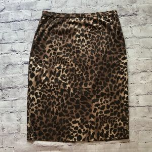 MICHAEL- Michael Kors Cheetah Print Pencil Skirt